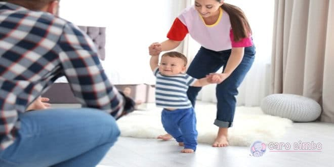 Consigli per aiutare i bambini a muovere i primi passi